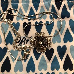 "Brighton 4 left clover necklace 16"" chain"